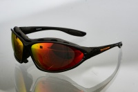 Очки для кайта Kiteflash Tarifa Brilliant Black Amalgam lenses red
